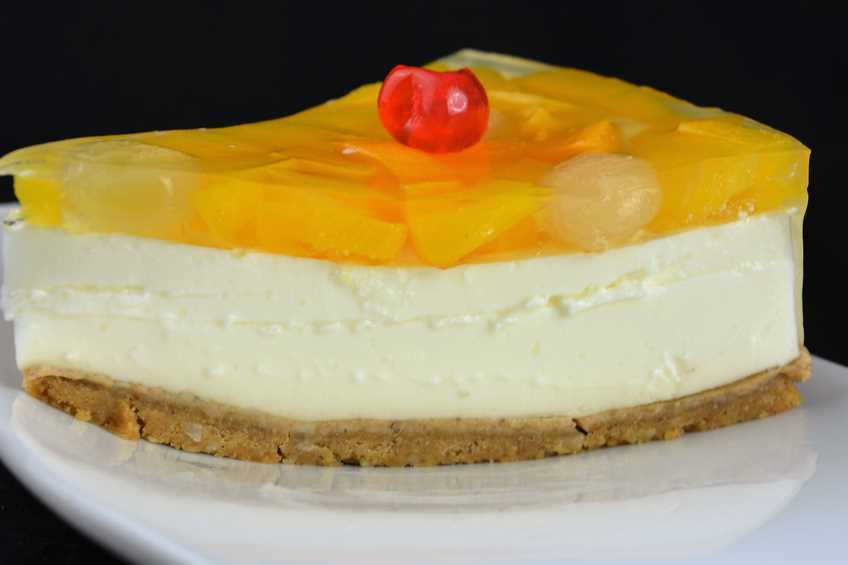 Receta de cheesecake de melocotón