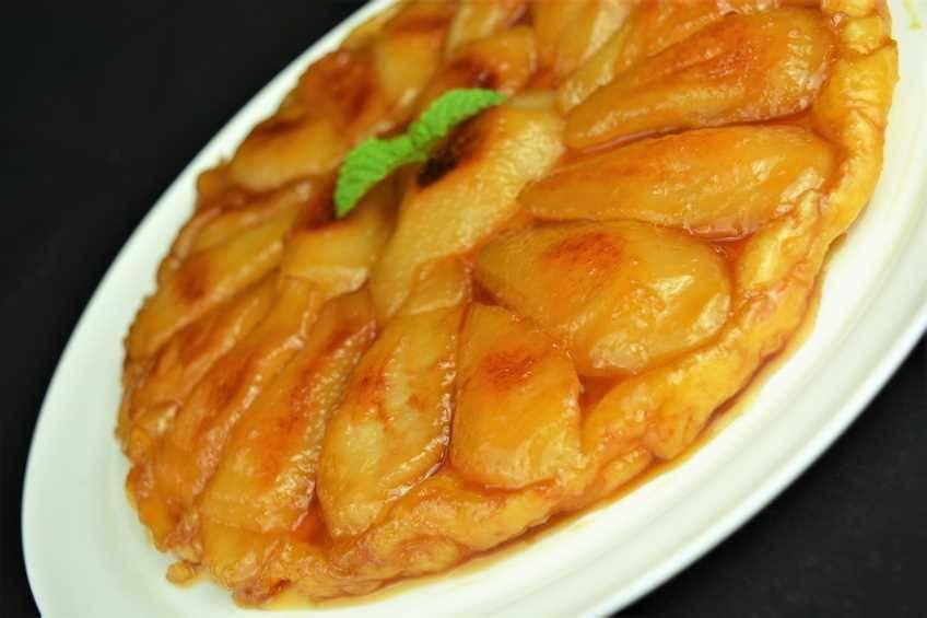Receta de tarta de tartín de pera